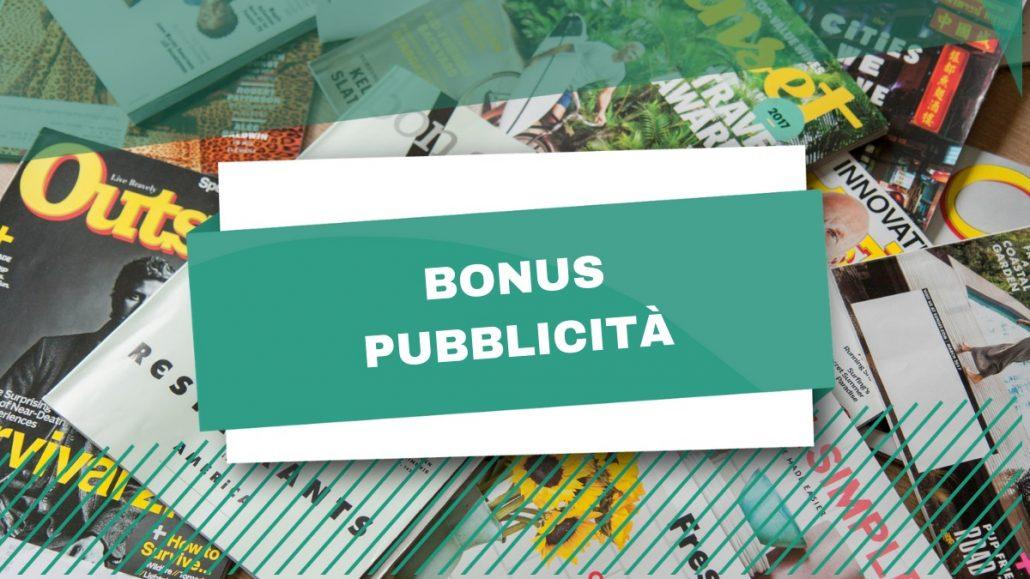 Bonus Pubblicità: proroga di due anni per il credito d'imposta a 50%